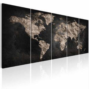 ARTGEIST World Full of Secrets I billede - brun/sort print, 2 størrelser 200x80