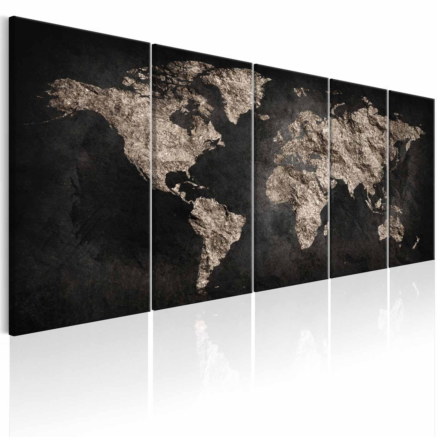 ARTGEIST World Full of Secrets I billede - brunt print, 2 størrelser 200x80