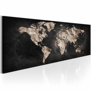 ARTGEIST World Full of Secrets billede - brun/sort print, 3 størrelser 120x40