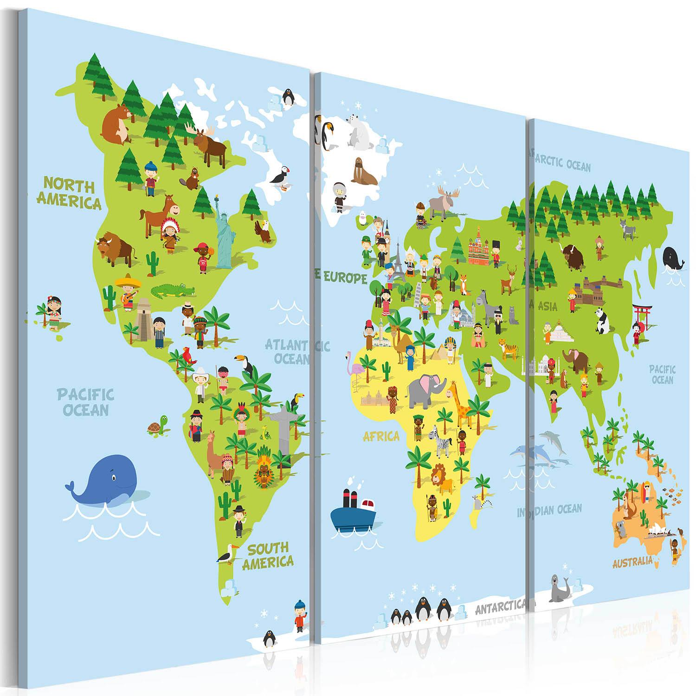 Artgeist billede - Children's World, på lærred 120x80