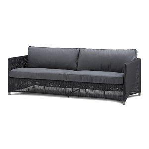 Cane-line - Diamond 3 pers. sofa inkl. grå Sunbrella hyndesæt
