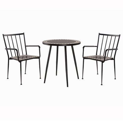 Coop cafésæt - Sort/hvid mosaik