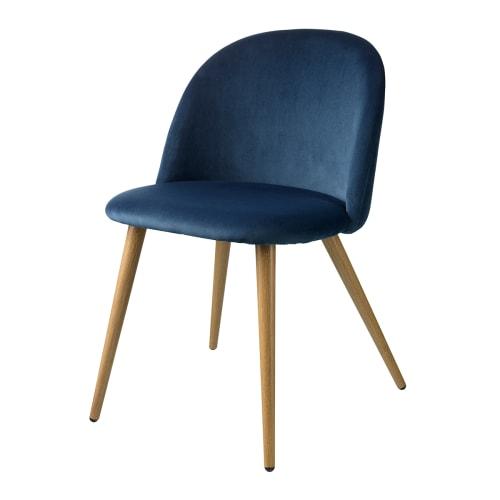 Living&more spisebordsstol - Laura - Mørkeblå