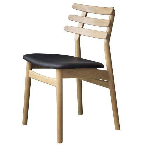 Poul M. Volther stol - J48 - Eg/sort læder