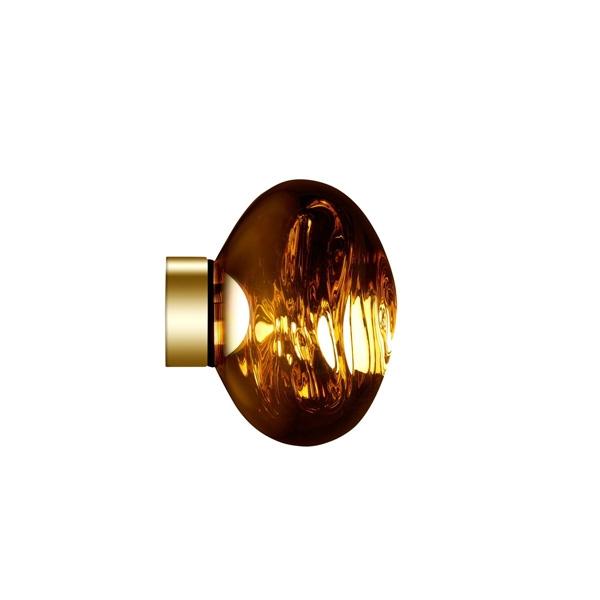Tom Dixon Melt Surface Væg/Loftlampe LED Guld Lille