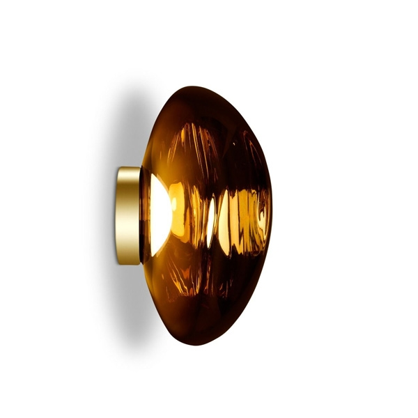 Tom Dixon Melt Surface Væg/Loftlampe LED Guld Stor
