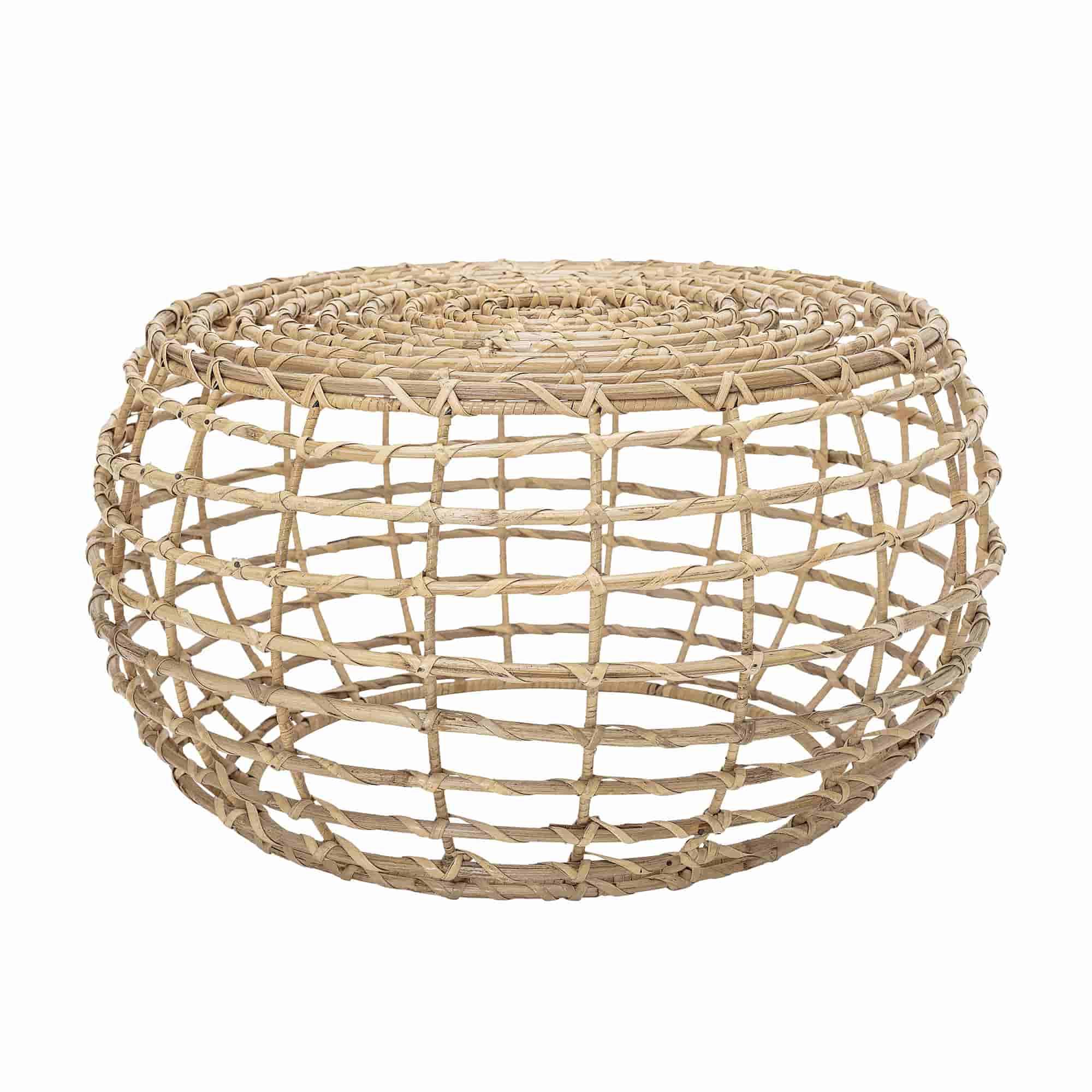 BLOOMINGVILLE Baril sofabord - natur sukkerrør, rund (Ø60)