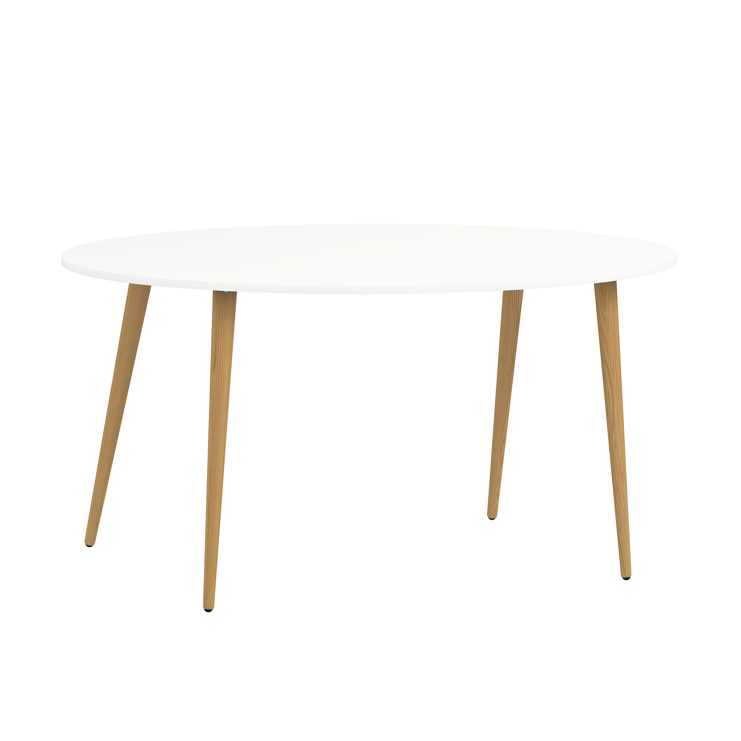 TVILUM Delta spisebord oval hvid