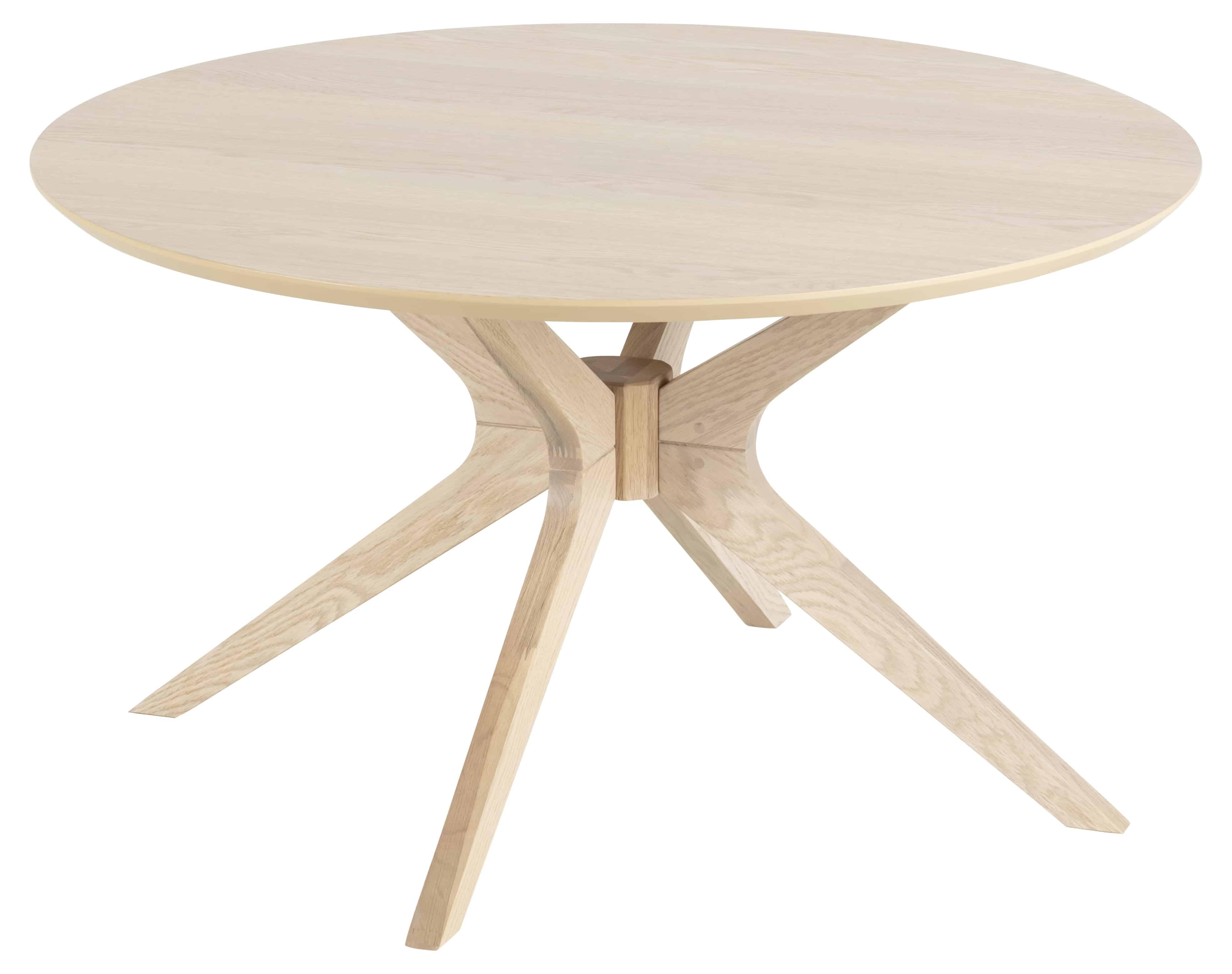 Duncan sofabord - natur egetræsfinér/egetræ, rund (Ø80)