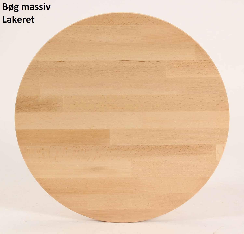 FURBO rund spisebord - massiv behandlet bøg (Ø100) Lakeret bøg