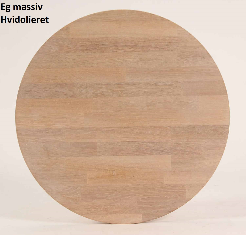FURBO rektangulær spisebord - massiv behandlet eg og sort metal (130x70) Behandlet eg