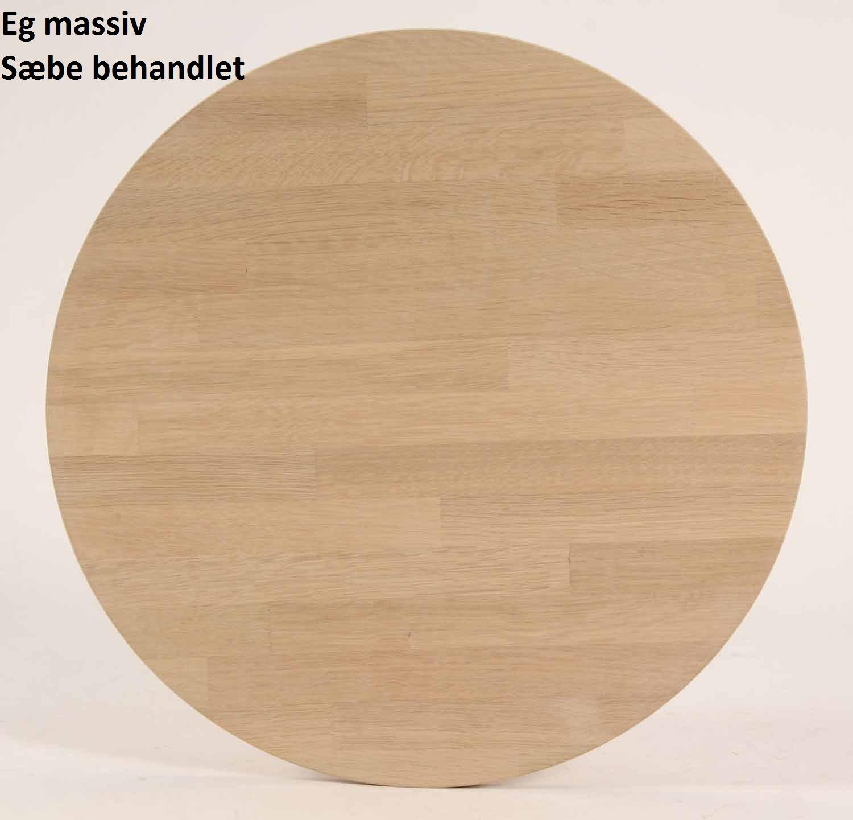 FURBO spisebord - massiv behandlet eg og sorte metalben (140x70) Sæbe eg