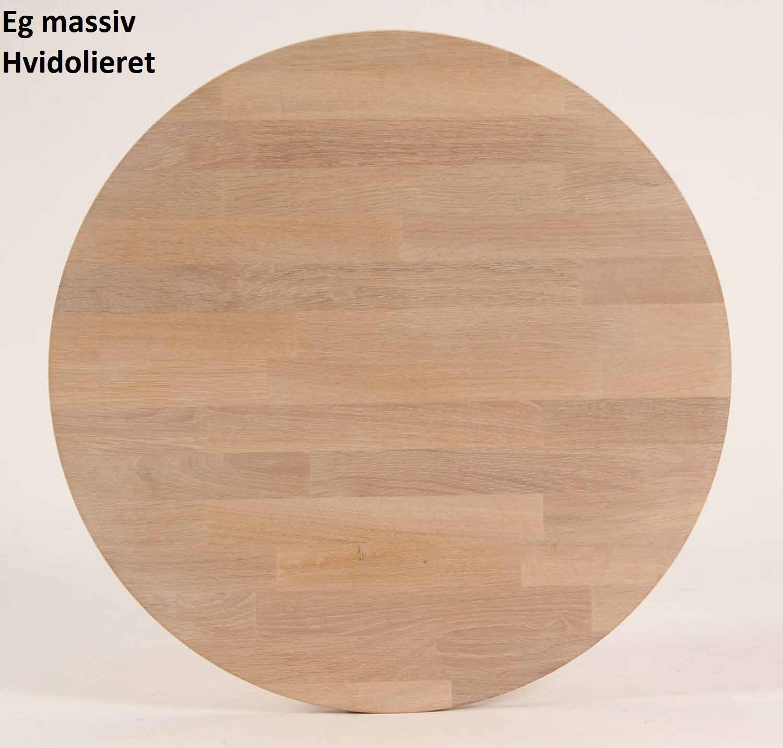 FURBO rund spisebord - massiv behandlet eg (Ø100) Hvidolieret eg