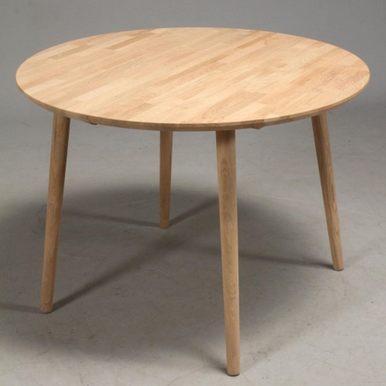 FURBO rund spisebord - massiv behandlet eg (Ø100) Olieret eg