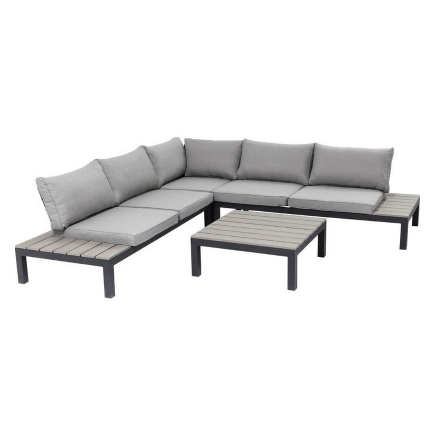 KARE DESIGN Holiday sofa havesæt - grå stof og sort aluminium