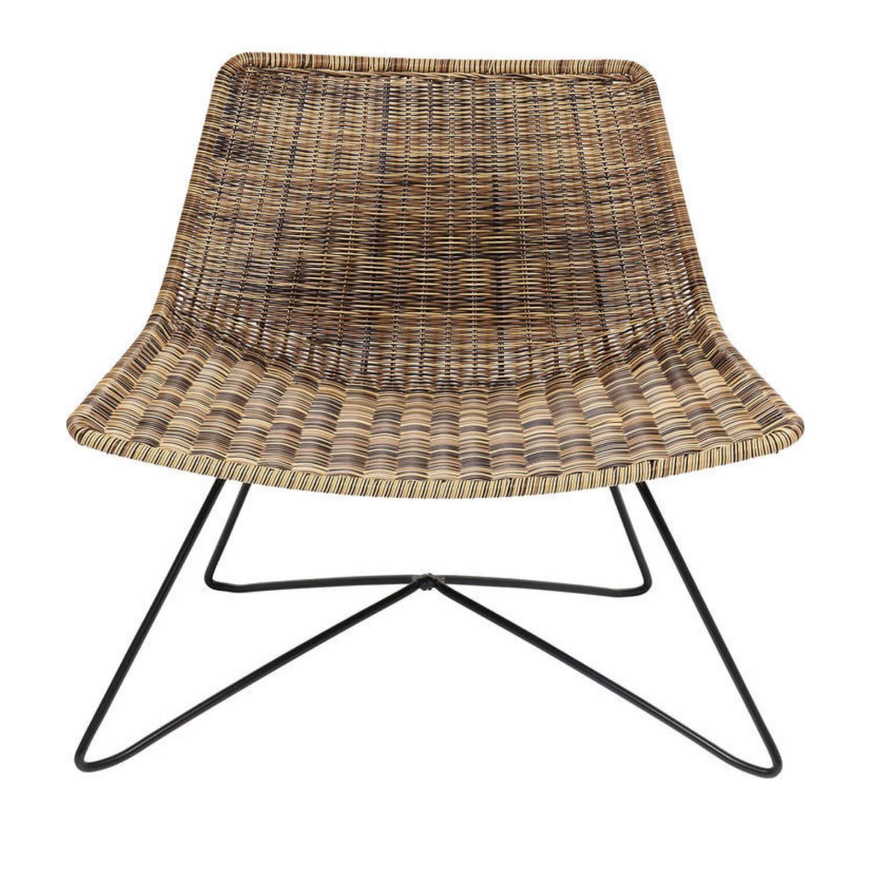 KARE DESIGN Sansibar loungestol - natur plastik og stål