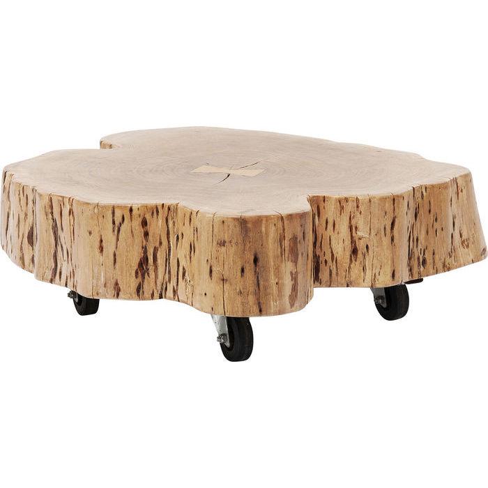 KARE DESIGN Snag sofabord - natur akacietræ, m. hjul