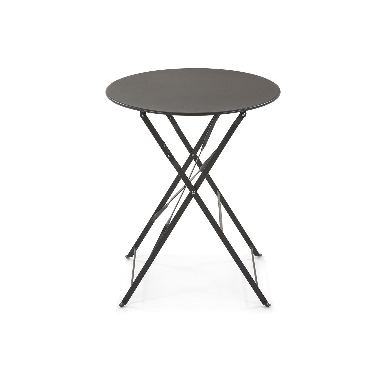 LAFORMA rund Alrick cafébord - grafit grå metal (Ø60)