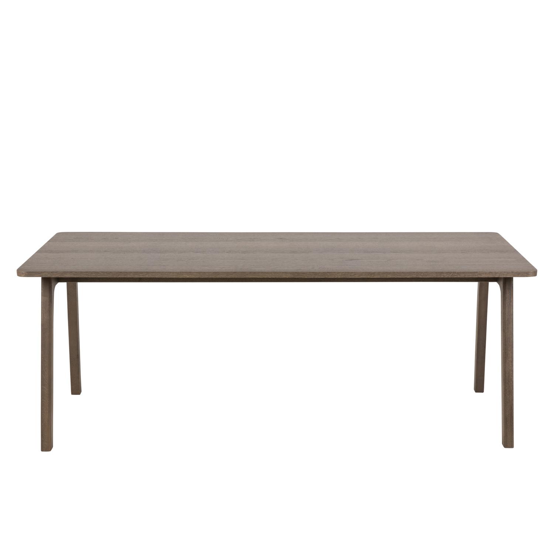 Nordi spisebord - brun egetræsfinér/egetræ, m. udtræk (200x100)