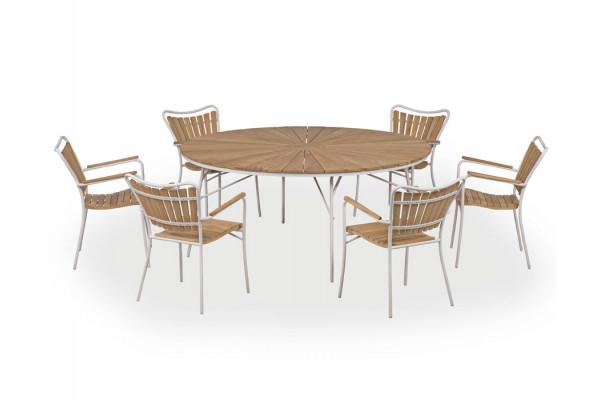 Rørvig 170 cm. Sæt med 6 stole