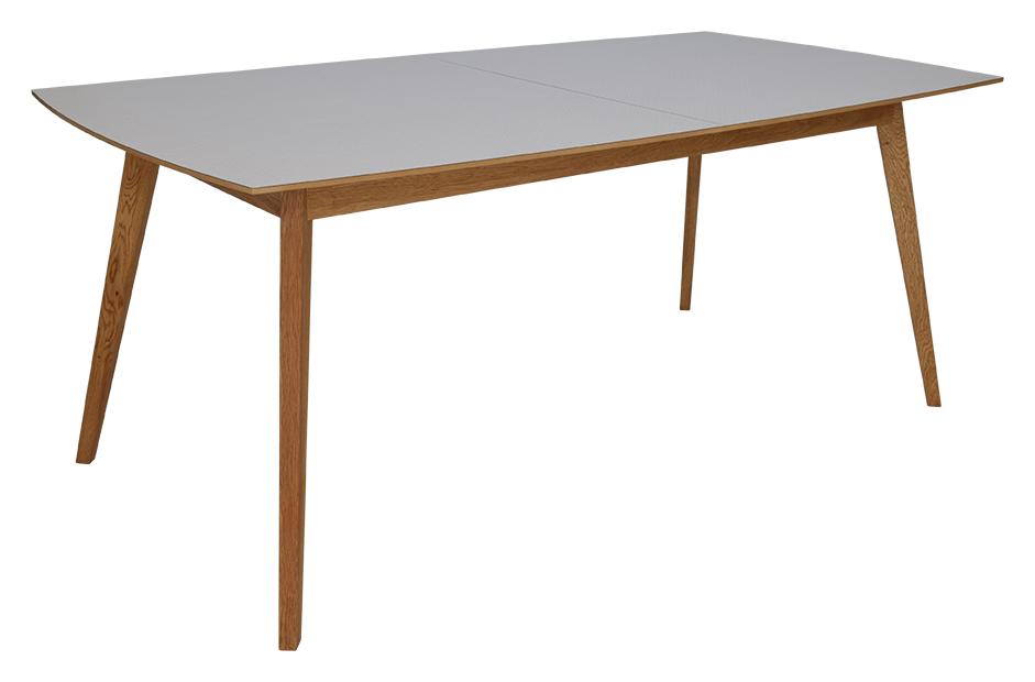 RGE Millie spisebord - grå/naturfarvet træ, rektangulær, m. udtræk, (74x195x95cm)