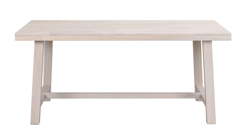 ROWICO Brooklyn spisebord - hvidpigmenteret eg m. udtræk (170x95)