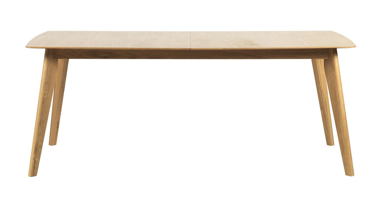 ROWICO Cirrus spisebord - lakeret eg, m. butterfly tillægsplade (190x90)
