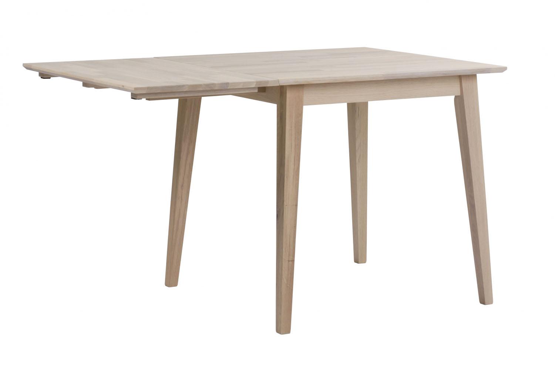 ROWICO Filippa spisebord - hvidolieret eg m. klap (80x80+45)