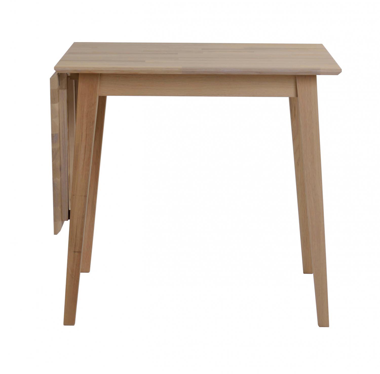 ROWICO Filippa spisebord - olieret eg m. klap (80x80+45)