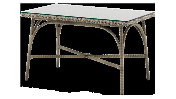 SIKA DESIGN Victoria havebord - glasplade og natur fibre (60x100)