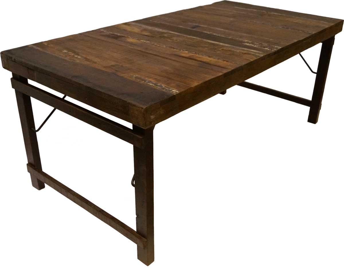 TRADEMARK LIVING spisebord - genbrugstræ og jern (180x90)