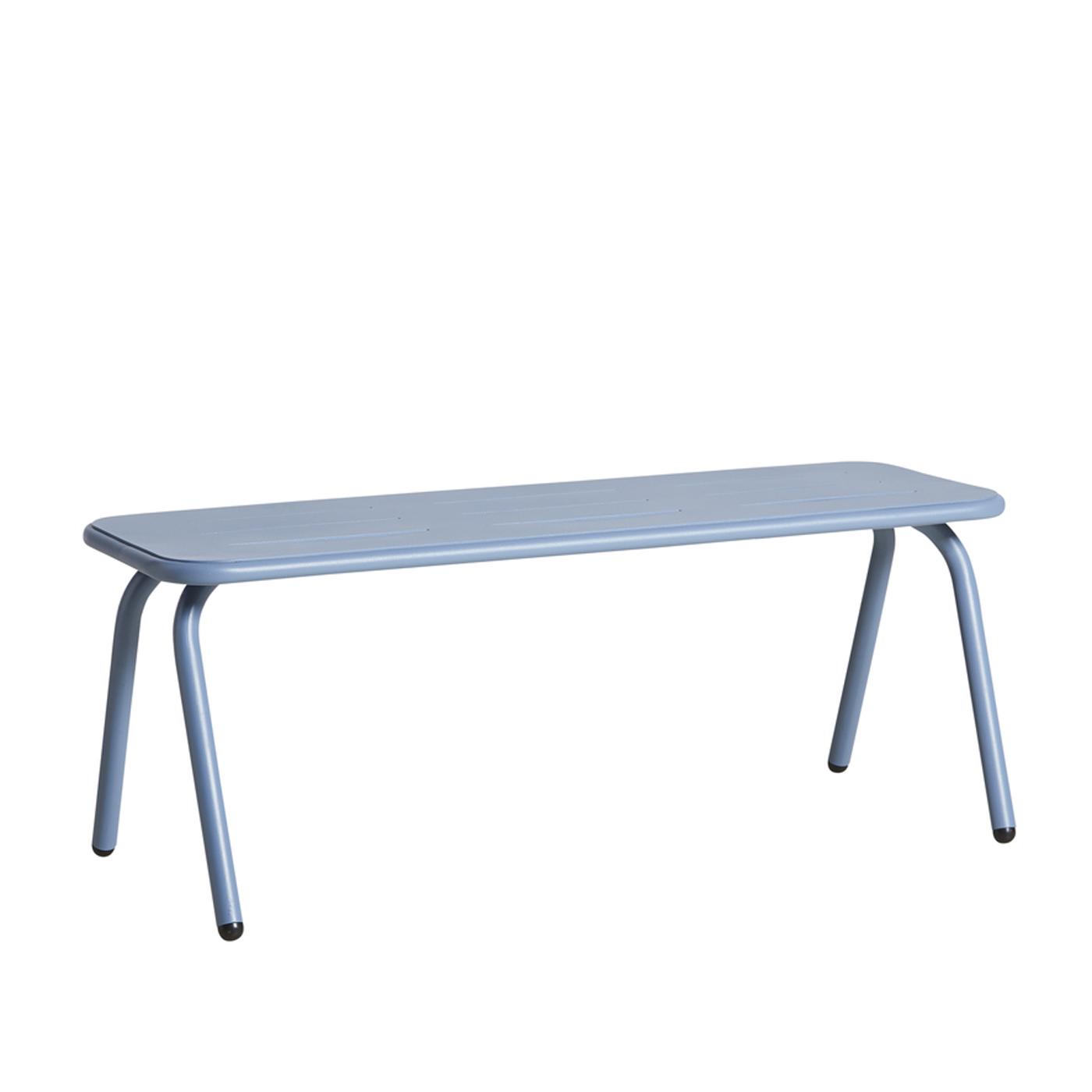 WOUD Ray bænk - blå aluminium, rektangulær (120x50,7)