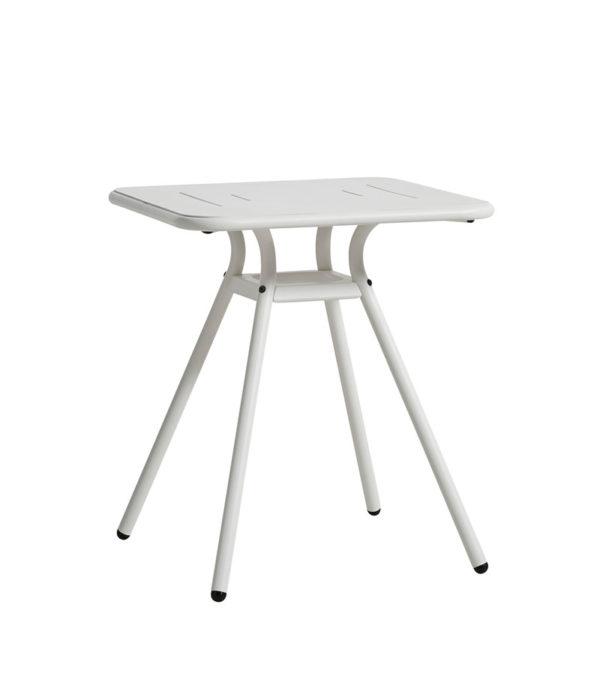 WOUD Ray cafébord - hvid aluminium, kvadratisk (65x65)
