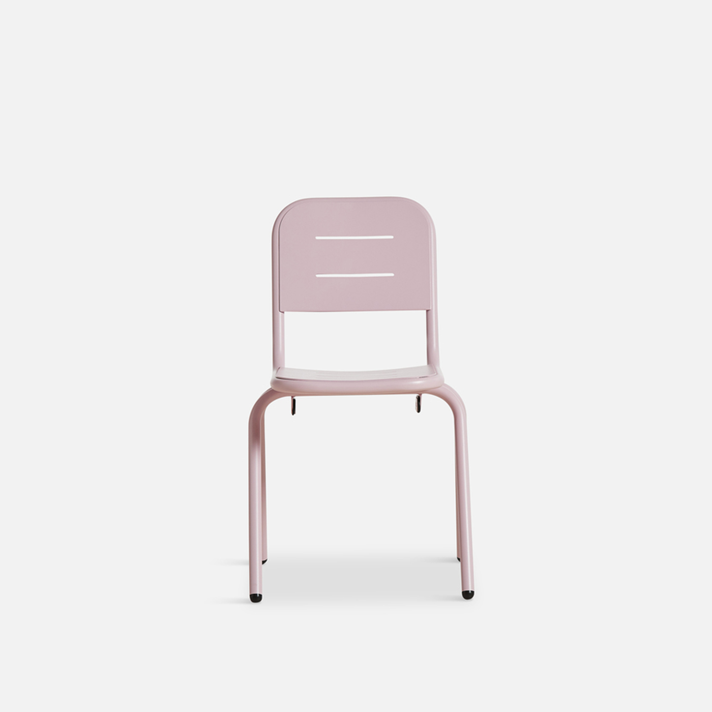 WOUD Ray caféstol - lyserød aluminium