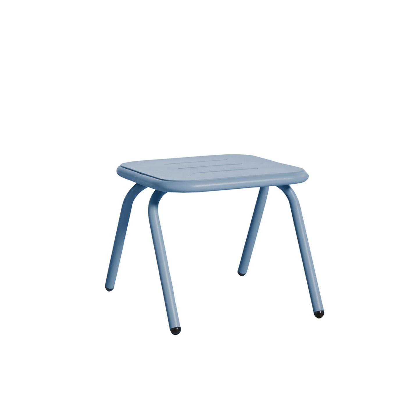WOUD Ray loungebord - blå aluminium, kvadratisk (37,4x37,4)