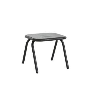 WOUD Ray loungebord - sort aluminium, kvadratisk (37,4x37,4)