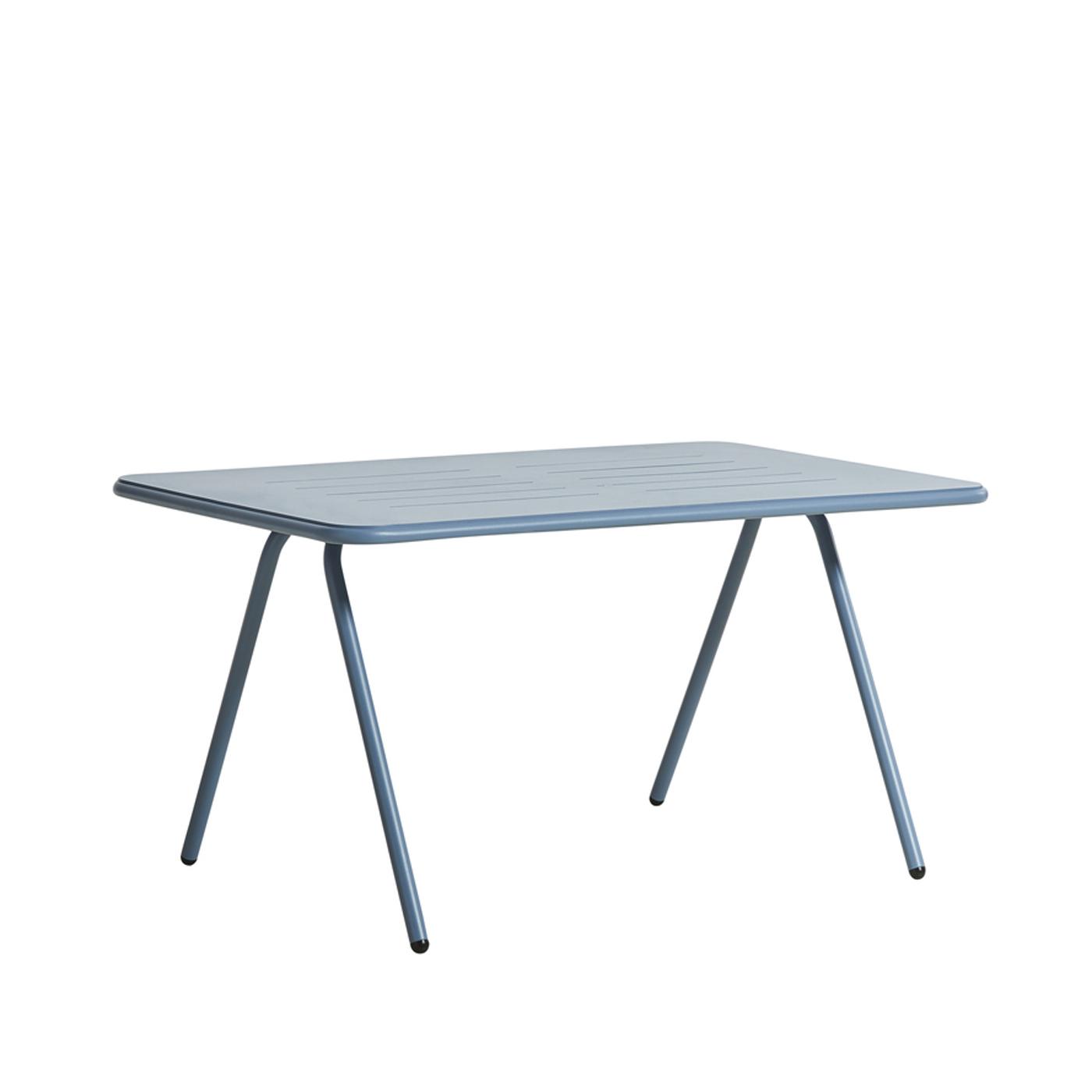 WOUD Ray spisebord - blå aluminium, rektangulær (140x85)