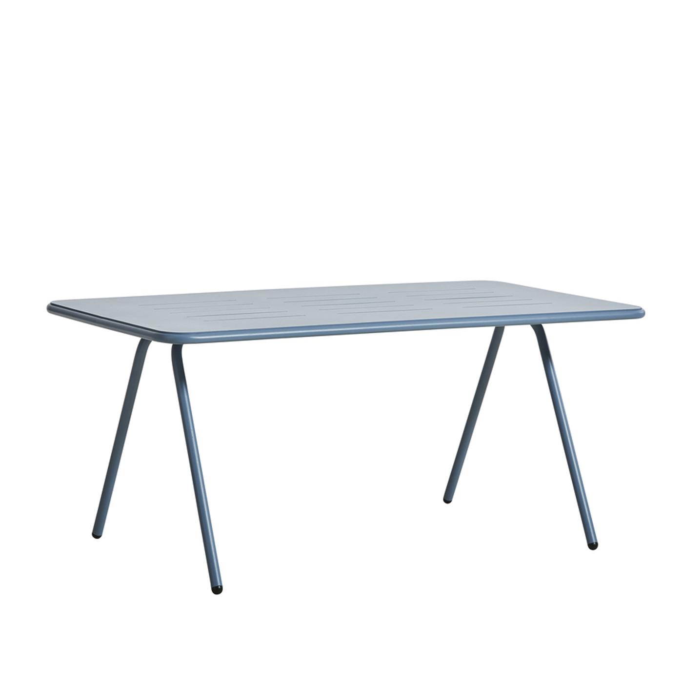 WOUD Ray spisebord - blå aluminium, rektangulær (160x85)