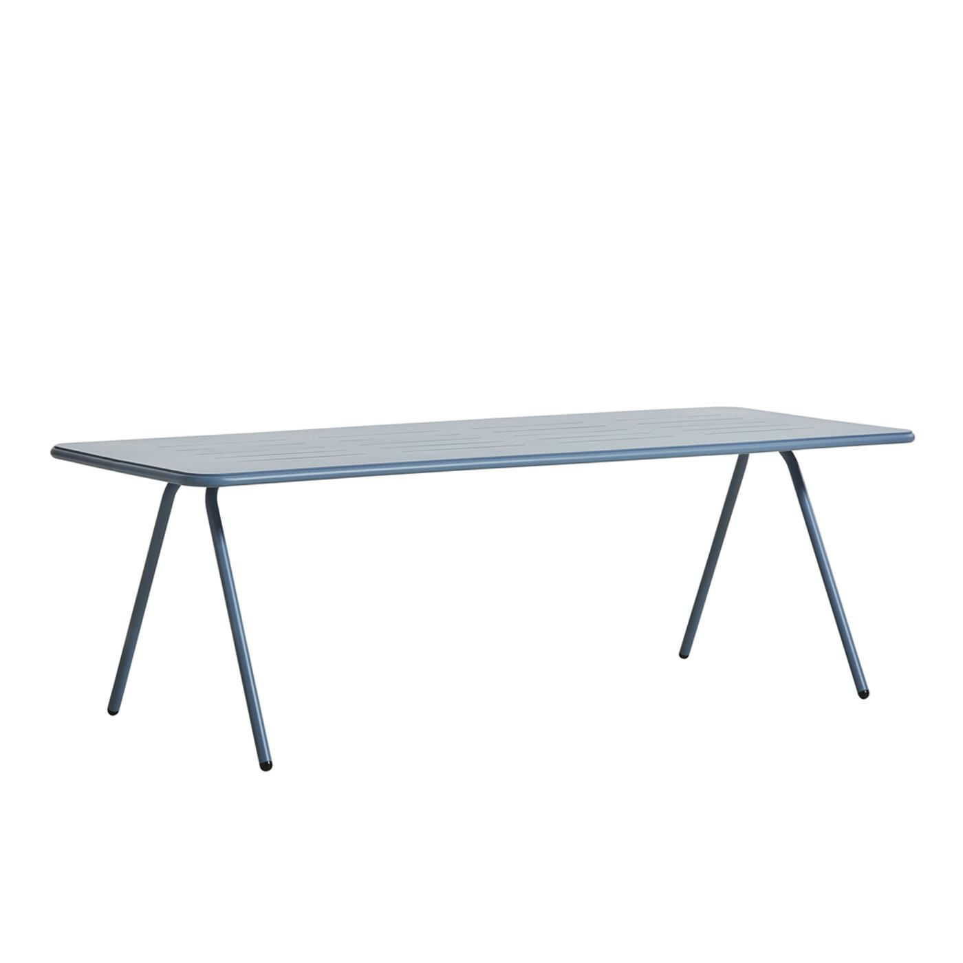 WOUD Ray spisebord - blå aluminium, rektangulær (220x85)