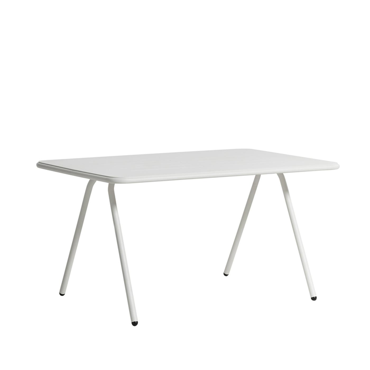 WOUD Ray spisebord - hvid aluminium, rektangulær (140x85)
