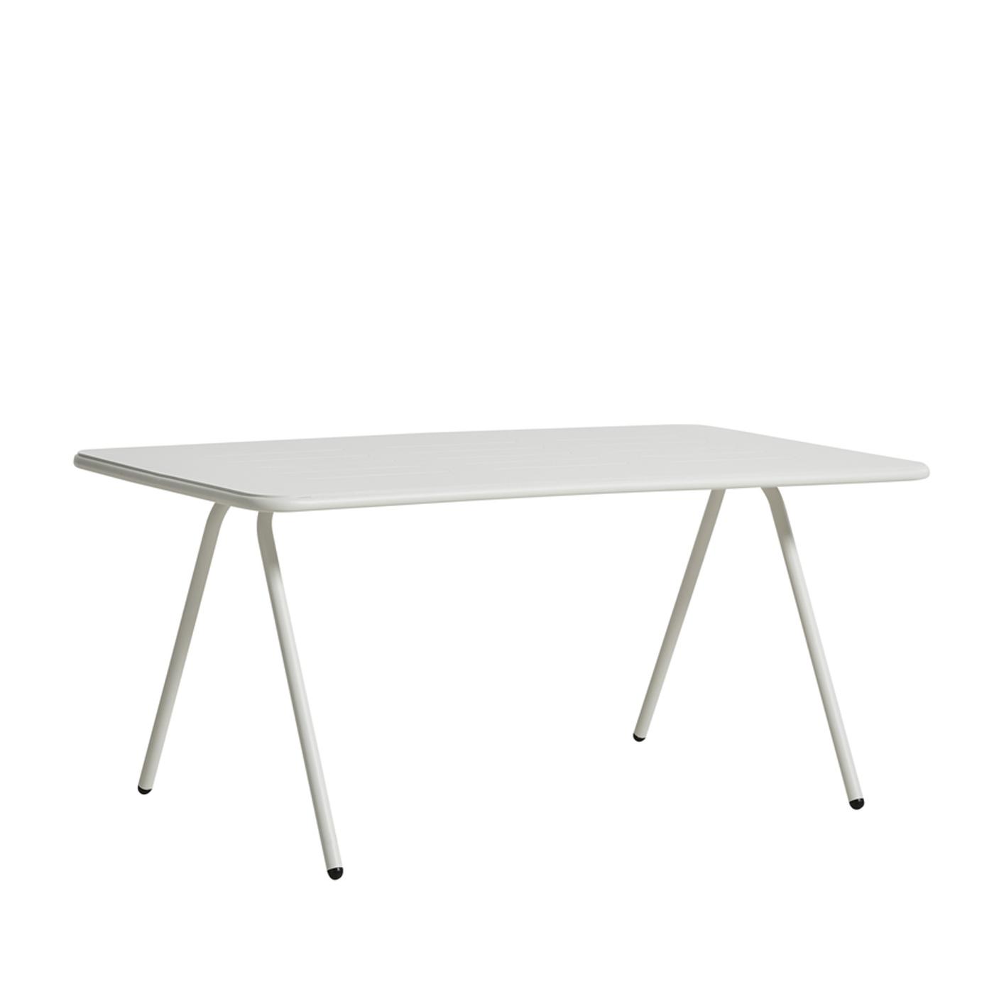 WOUD Ray spisebord - hvid aluminium, rektangulær (160x85)
