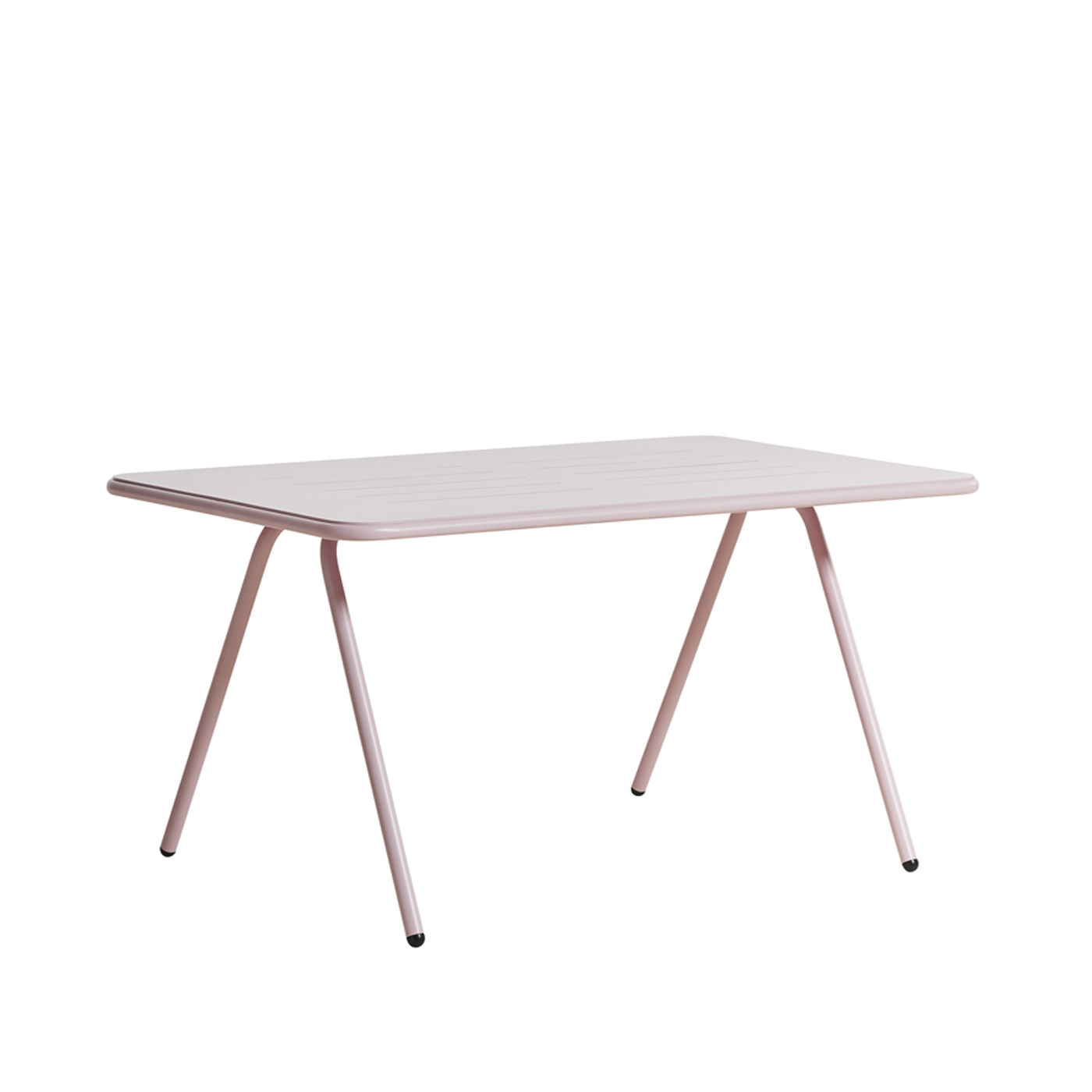 WOUD Ray spisebord - lyserød aluminium, rektangulær (140x85)