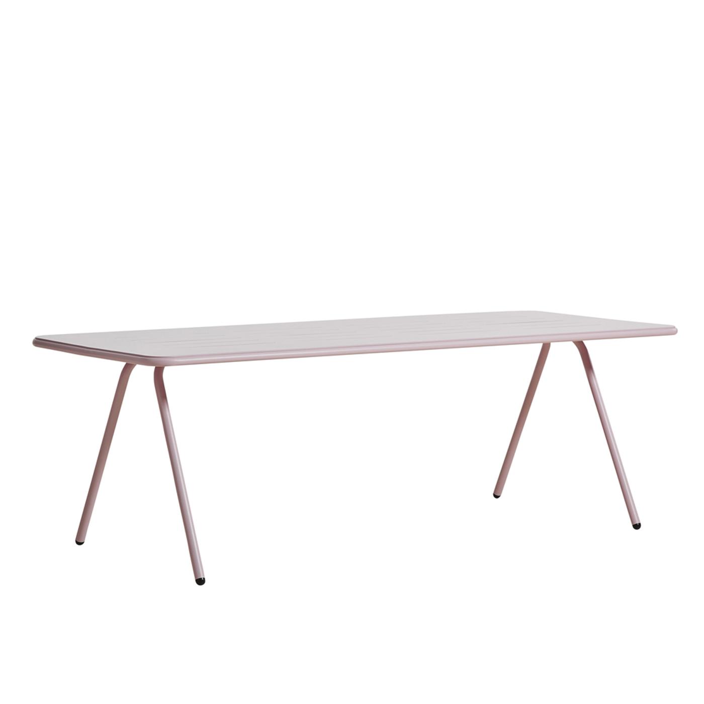 WOUD Ray spisebord - lyserød aluminium, rektangulær (220x85)