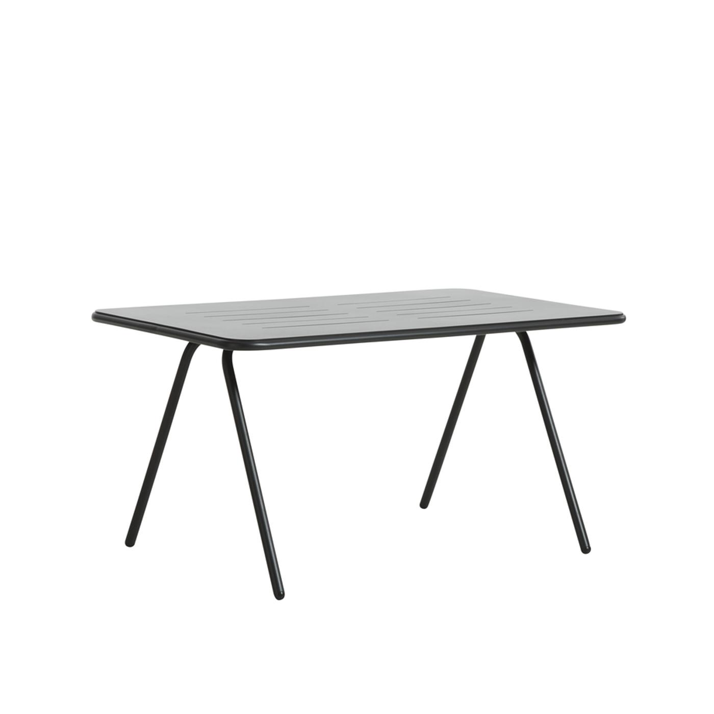 WOUD Ray spisebord - sort aluminium, raktangulær (140x85)