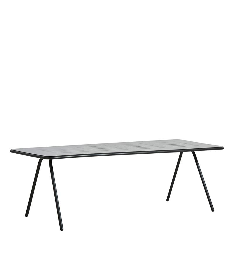 WOUD Ray spisebord - sort aluminium, rektangulær (220x85)