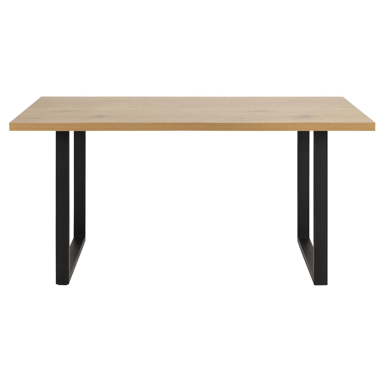ACT NORDIC Wales spisebord - natur/sort vildegmelamin/metal, rektangulær (160x:90)