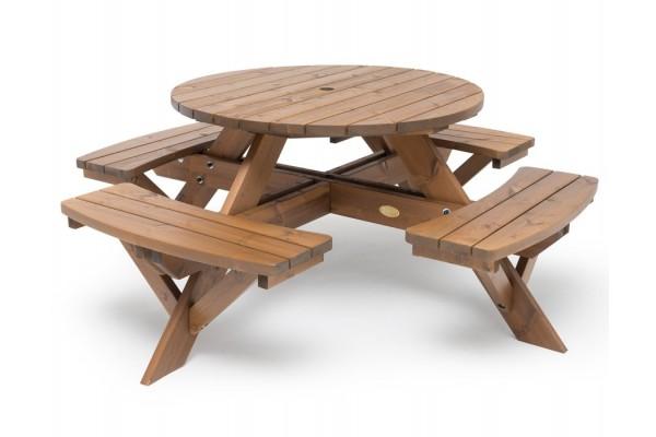 Rundt bord/bænke-sæt