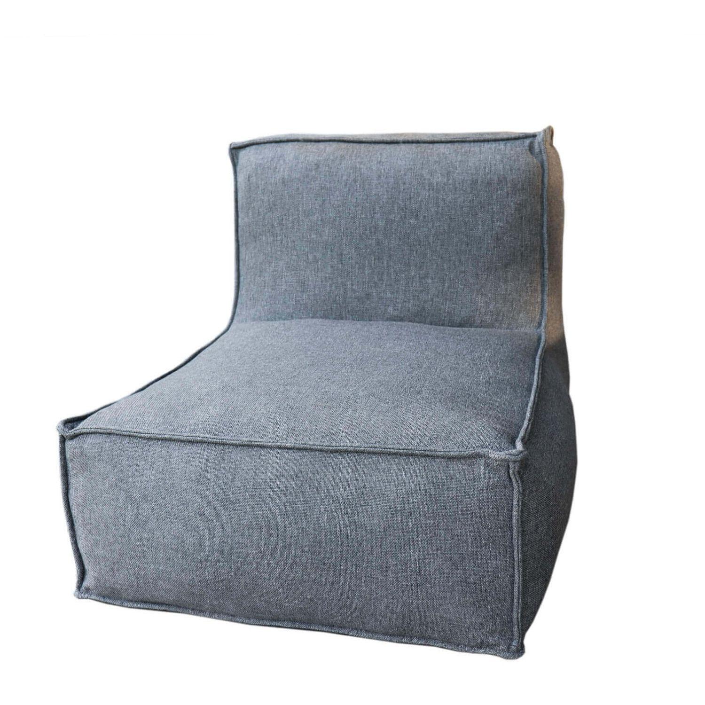 TROISPOMMESHOME C2 Edge loungestol - grå stof