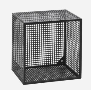 WIRE box for wall, black, S