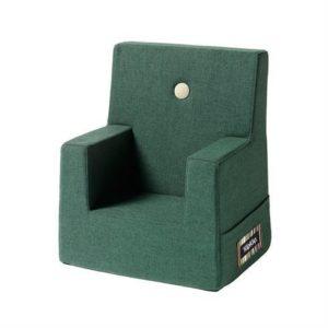 By KlipKlap Børnelænestol Dyb Grøn med lys grøn knap